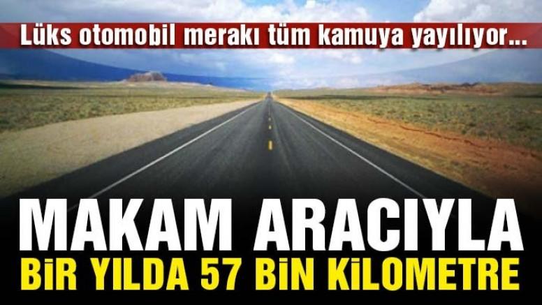Başkan yardımcısı bir yılda 57 bin kilometre yol gitmiş