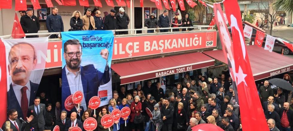 CHP Nilüfer'de Özer Anaç'tan coşkulu adaylık açıklaması