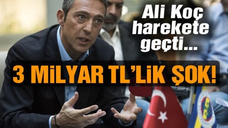 Fenerbahçe'de 3 milyar TL şoku!