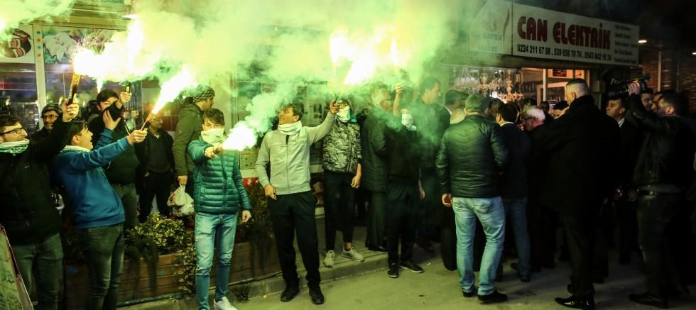 Panayır Gençlik Spor Kulübü'nden Bozbey'e miting gibi karşılama