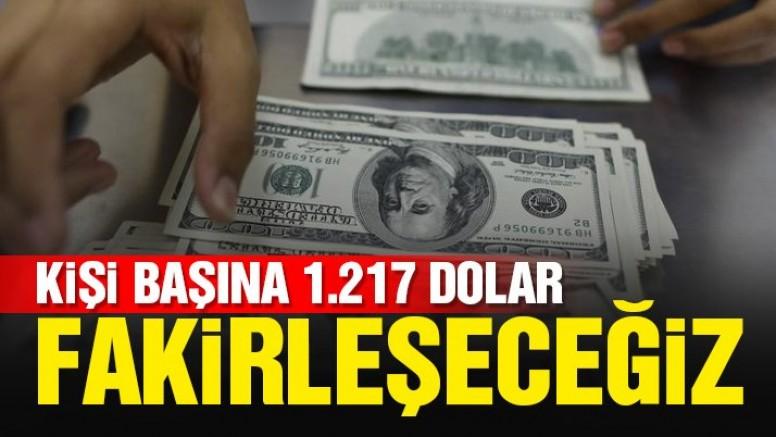 Son dakika!… Yeni Ekonomi Programı kanıtladı! Kişi başına 1.217 dolar fakirleşeceğiz
