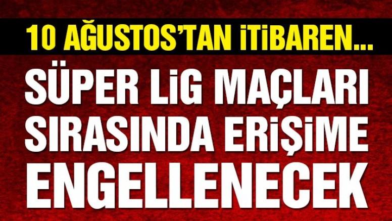 Süper Lig maçları sırasında Periscope'a erişim engeli kararı